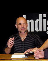 Toronto (ON) CANADA -Nov 13 2009-<br /> Tennis Legend Andre Agassi sign autographs at Indigo store in Toronto, Canada