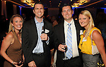 From left: Skye Cizek and Joey Clements  with Robert and Rebecca O'Malley at the Technip reception at the Hotel Derek Tuesday May 1,2012. (Dave Rossman Photo)