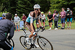 Romain Bardet (FRA) AG2R La Mondiale rounds the final bend before the finish of Stage 3 of the Route d'Occitanie 2020, running 163.5km from Saint-Gaudens to Col de Beyrède, France. 3rd August 2020. <br /> Picture: Colin Flockton | Cyclefile<br /> <br /> All photos usage must carry mandatory copyright credit (© Cyclefile | Colin Flockton)