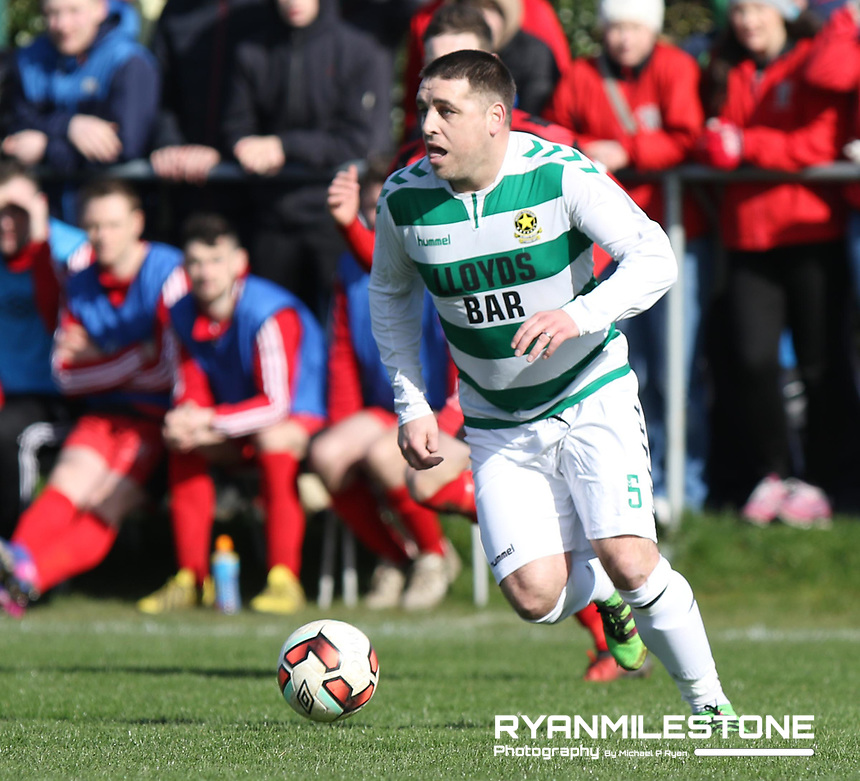 FAI Junior Cup Quarter Final.<br /> Peake Villa v Sheriff YC<br /> Tower Grounds,<br /> Thurles, Co Tipperary<br /> Sunday 12th March 2017<br /> John Lester (Sheriff YC)<br /> Photo Credit: Michael P Ryan