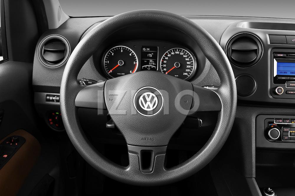 Steering wheel view of a 2012 Volkswagen Amarok Trendline Truck