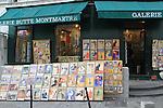 Artwork in a Montmartre gallery near Sacre-Coeur Basilica, Paris, France.