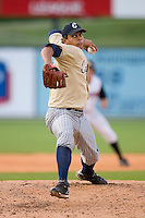 Relief pitcher Anillins Martinez #41 of the Lake County Captains in action versus the Kannapolis Intimidators at Fieldcrest Cannon Stadium May 3, 2009 in Kannapolis, North Carolina. (Photo by Brian Westerholt / Four Seam Images)