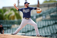 Tampa Bay Rays pitcher Taylor Hawkins (52) during an Instructional League game against the Baltimore Orioles on September 19, 2016 at Ed Smith Stadium in Sarasota, Florida.  (Mike Janes/Four Seam Images)