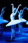 """English National Ballet performing Derek Deane's production of """"Swan Lake"""" in the round at the Royal Albert Hall"""