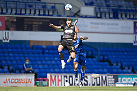 Dan Gardner, Wigan Athletic,  heads on during Ipswich Town vs Wigan Athletic, Sky Bet EFL League 1 Football at Portman Road on 13th September 2020