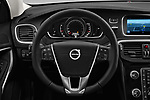Car pictures of steering wheel view of a 2017 Volvo V40-Cross-Country - 5 Door Wagon Steering Wheel