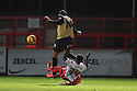 Roarie Deacon of Stevenage tackles Shaun Batt of Leyton Orient and is sent off<br />  - Stevenage v Leyton Orient - Johnstone's Paint Trophy - Southern Section Quarter-final  - Lamex Stadium, Stevenage - 12th November, 2013<br />  © Kevin Coleman 2013