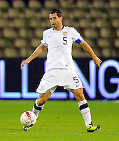 Carlos Bocanegra of team USA during the friendly match Belgium against USA at King Baudoin stadium in Brussel, Belgium on September 06th, 2011.