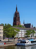 Dom, rechtes  Mainufer, Frankfurt, Hessen, Deutschland, Europa<br /> Dome, right bank of river Main, Frankfurt, Hesse, Germany, Europe