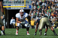 South Bend, IN - OCTOBER 4:  Offensive tackle Ben Muth #76 of the Stanford Cardinal during Stanford's 28-21 loss against the Notre Dame Fighting Irish on October 4, 2008 at Notre Dame Stadium in South Bend, Indiana.