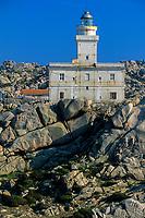 Lighthouse from Capo Testa, Santa Teresa, Sardinia, Italy, Tyrrhenian Sea, Mediterranean