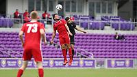 Orlando, Florida - Saturday January 13, 2018: Thomas Vancaeyezeele and Alex Roldan. Match Day 1 of the 2018 adidas MLS Player Combine was held Orlando City Stadium.