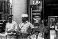 Marion, (Ohio) USA - Summer 1938 - TITLE: Bus station, Marion, Ohio