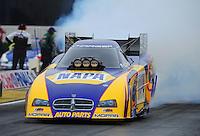Nov. 10, 2011; Pomona, CA, USA; NHRA funny car driver Ron Capps during qualifying at the Auto Club Finals at Auto Club Raceway at Pomona. Mandatory Credit: Mark J. Rebilas-.