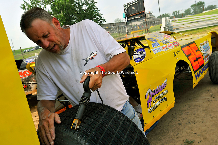 Aug 5, 2010; 3:01:36 PM; New Richmond, WI., USA; The 23rd Annual USA Nationals presented by U.S. Steel Corporation running a 50,000-to-win World of Outlaws Dirt Late Model Series sanctioned event at Cedar Lake Speedway.  Mandatory Credit: (thesportswire.net)