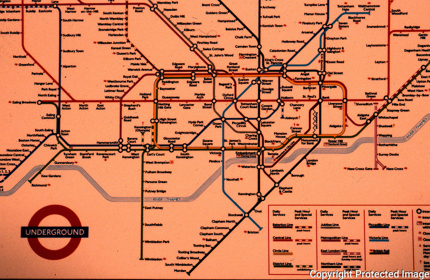 London:  London undergrouned plan. Reference only.