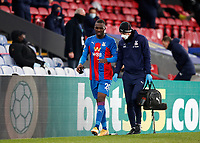 2nd January 2021; Selhurst Park, London, England; English Premier League Football, Crystal Palace versus Sheffield United; Christian Benteke of Crystal Palace injured and being taking back to the tunnel for treatment