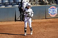 GREENSBORO, NC - FEBRUARY 22: Cora Bassett #25 of Purdue University walks to the plate during a game between North Carolina and Purdue at UNCG Softball Stadium on February 22, 2020 in Greensboro, North Carolina.