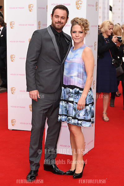 Danny Dyer and Kellie Bright<br /> arrives for the 2015 BAFTA TV Awards at the Theatre Royal, Drury Lane, London. 10/05/2015 Picture by: Steve Vas / Featureflash