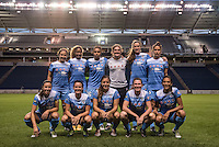 Bridgeview, IL - Saturday July 23, 2016:  Chicago Red Stars starting XI during a regular season National Women's Soccer League (NWSL) match between the Chicago Red Stars and the Houston Dash at Toyota Park.