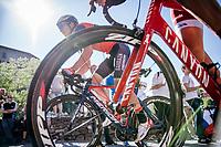 Luka Pibernik (SVK/Bahrain-Merida) up the final climb towards the Città Alta in Bergamo<br /> <br /> Stage 15: Valdengo › Bergamo (199km)<br /> 100th Giro d'Italia 2017