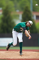 Charlotte 49ers starting pitcher Colton Laws (42) follows through on his delivery against the Marshall Thundering Herd at Hayes Stadium on April 23, 2016 in Charlotte, North Carolina. The Thundering Herd defeated the 49ers 10-5.  (Brian Westerholt/Four Seam Images)