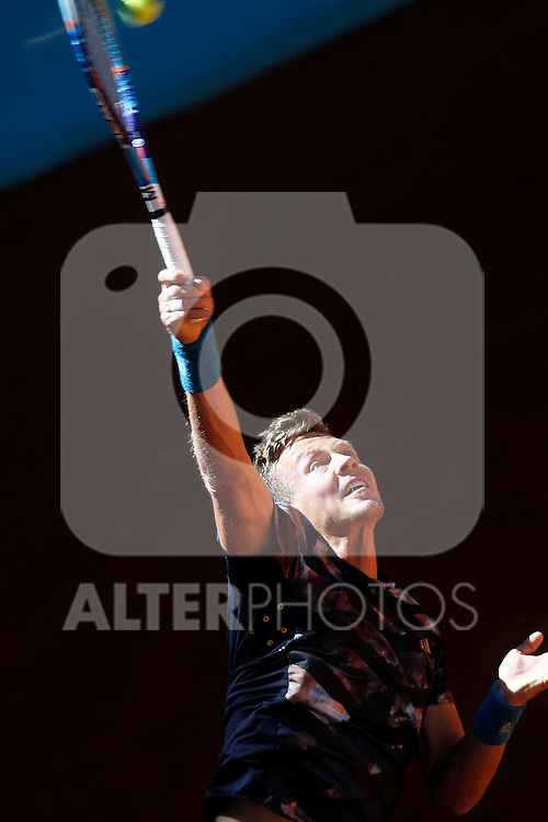 Tomas Berdych, Czech Republic, during Madrid Open Tennis 2015 match.May, 7, 2015.(ALTERPHOTOS/Acero)