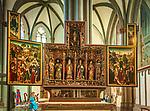 Deutschland, Nordrhein-Westfalen, Xanten: ehemalige Stiftskirche St. Viktor (Xantener Dom) - Antoniusaltar um 1500 | Germany, Northrhine-Westphalia, Xanten: Xanten cathedral - Antonius Altar by 1500
