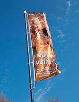 April 16, 2015, Netherlands, Den Bosch, Maaspoort, Fedcup Netherlands-Australia,  Flaggs<br /> Photo: Tennisimages/Henk Koster