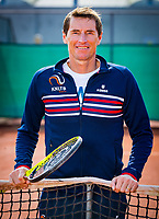 Almere, Netherlands, April 3, 2018, New clothes KSwiss for KNLTB staff, headcoach Paul Haarhuis<br /> Photo: Tennisimages/Henk Koster