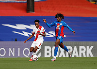 12th September 2020; Selhurst Park, London, England; English Premier League Football, Crystal Palace versus Southampton; Eberechi Eze of Crystal Palace challenges Kyle Walker-Peters of Southampton