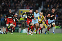 Ben Spencer of Saracens finds space in midfield during the Premiership Rugby match between Saracens and Worcester Warriors - 28/11/2015 - Twickenham Stadium, London<br /> Mandatory Credit: Rob Munro/Stewart Communications