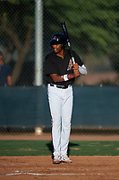 AZL D-backs Rafael Jimenez (32) at bat during an Arizona League game against the AZL Mariners on July 3, 2019 at Salt River Fields at Talking Stick in Scottsdale, Arizona. The AZL D-backs defeated the AZL Mariners 3-1. (Zachary Lucy/Four Seam Images)