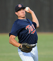 Starting LHP Ryan O'Rourke (36) of the Elizabethton Twins in a game against the Danville Braves on July 16, 2010, at Joe O'Brien Field in Elizabethton, Tenn. Photo by: Tom Priddy/Four Seam Images