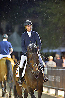 WELLINGTON, FL - APRIL 02: Grand prix action at the 2016 Winter Equestrian Festival (WEF) concluded with an exciting international showdown Saturday night as Great Britain's Ben Maher and Jane Clark's Sarena jumped to victory in the $500,000 Rolex Grand Prix CSI 5*. The finale grand prix for the winter circuit, Maher and Sarena topped a seven-horse jump-off, with McLain Ward (USA) and HH Azur in second, and Meredith Michaels-Beerbaum (GER) and Fibonacci 17 third. The Winter Equestrian Festival (WEF) is the largest, longest running hunter/jumper equestrian event in the world held at the Palm Beach International Equestrian Center on April 2, 2016  in Wellington, Florida.<br /> <br /> <br /> People:  Beezie Madden
