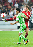 GUANGZHOU, GUANGDONG - JULY 26:  Toni Kroos (R) of Bayern Munich and Josue of VfL Wolfsburg fight for a ball during a friendly match as part of the Audi Football Summit 2012 on July 26, 2012 at the Guangdong Olympic Sports Center in Guangzhou, China. Photo by Victor Fraile / The Power of Sport Images