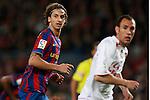 Football Season 2009-2010. Barcelona's player Zlatan Ibrahimovic during the Spanish first division soccer match at Camp Nou stadium in Barcelona November 07, 2009.