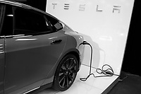 TESLA Electrical <br /> 2016 model at Montreal car show. January 15, 2016<br /> <br /> Photo : Pierre Roussel - Agence Quebec Presse<br /> <br /> <br /> <br /> <br /> <br /> <br /> <br /> <br /> <br /> <br /> <br /> .