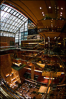 Interior of Trump Tower, Fifth Avenue, New York City, USA.  Taken with 16mm fisheye lens.