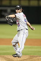 Peoria Javelinas pitcher Erik Turgeon #53 during an Arizona Fall League game against the Salt River Rafters at HoHoKam Park on November 3, 2011 in Mesa, Arizona.  Salt River defeated Peoria 13-4.  (Mike Janes/Four Seam Images)