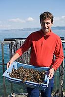 Europe/France/Rhône-Alpes/74/Haute Savoie/Lugrin: chez Eric Jacquier pécheur professionnel sur le Lac Léman et ses écrevisses du Lac Léman
