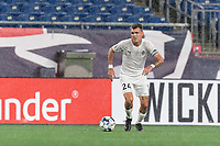 FOXBOROUGH, MA - SEPTEMBER 1: Dakota Barnathan #24 of FC Tucson brings the ball forward during a game between FC Tucson and New England Revolution II at Gillette Stadium on September 1, 2021 in Foxborough, Massachusetts.
