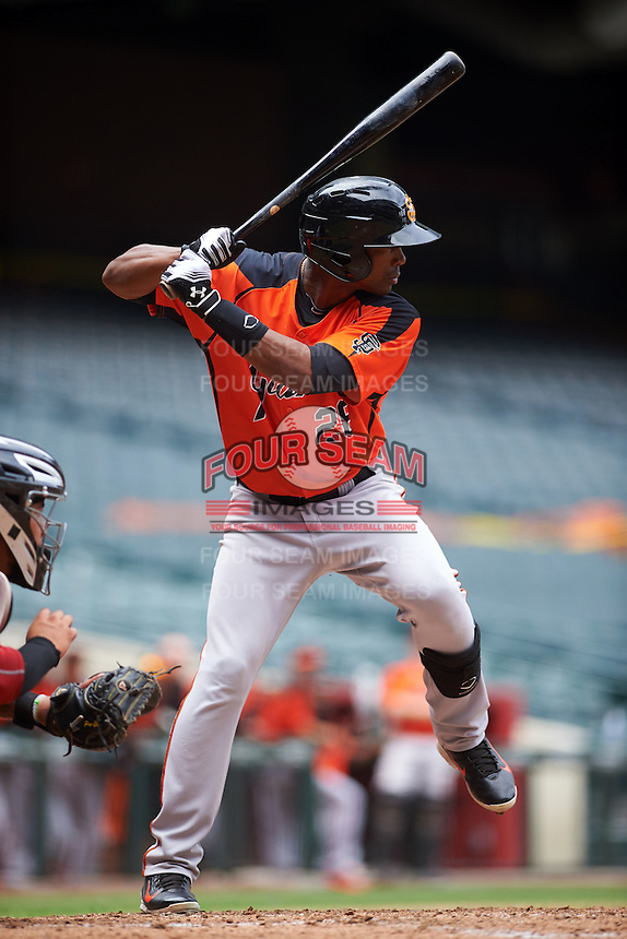 San Francisco Giants Daniel Carbonell (26) during an instructional league game against the Arizona Diamondbacks on October 16, 2015 at the Chase Field in Phoenix, Arizona.  (Mike Janes/Four Seam Images)