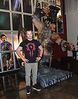 """Warcraft"" Star Robert Kazisnky Visits Orgrim Character Installation"