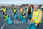 Tidy Town Together volunteers doing a clean up in Tralee on Thursday evening. Front right: Joe Moynihan, Kneeling l to r: Martha Farrell and Brendan O'Brien. Back l to r: Bianca Cook, Ann Marie Fuller, Sheila O'Mahoney and Tim Guiheen