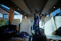 Kevin Van Melsen (BEL/Wanty-Groupe Gobert) getting ready for another day at the front<br /> <br /> Kuurne-Brussel-Kuurne 2016