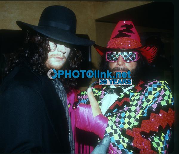 Undertaker Randy Savage 1991, Photo By John Barrett/PHOTOlink