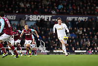 Barclays Premier League, West Ham V Swansea, 02/02/2013<br /> Pictured: (L-R) Mark Noble, Michu.<br /> Picture by: Ben Wyeth / Athena