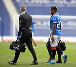 02.05.2021 Rangers v Celtic: Alfredo Morelos injured